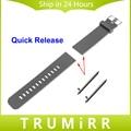 Quick Release Силиконовой Резинкой для Asus Zenwatch 1 2 22 мм галечный Время Стали LG G Watch W100 W110 Urbane W150 Ремень браслет