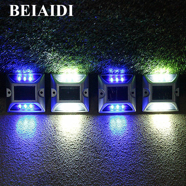 Beiaidi 5pcs solar underground deck light led solar dock path road beiaidi 5pcs solar underground deck light led solar dock path road marker lights waterproof security warning aloadofball Image collections