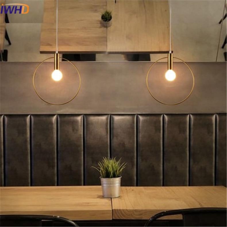 Modren LED obesek lučka Osebnost Zaokrožena železna razsvetljava - Notranja razsvetljava - Fotografija 5