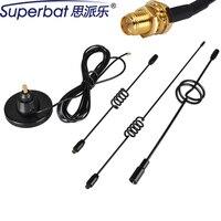 Superbat 850/1900/900/1800/2100 Mhz GSM/UMTS/HSPA/CDMA/3G Omni Antenne 10dbi RP SMA Antenne Magnetfuß Signal Booster 987mm 3 Mt