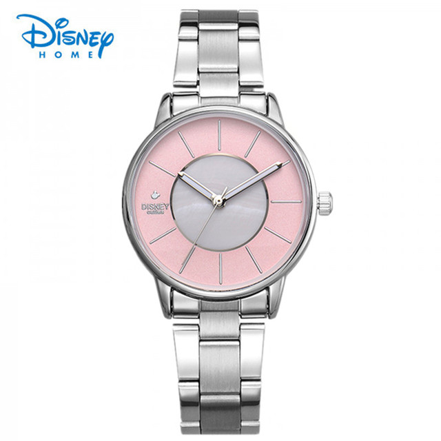 100% Genuine Disney Luxury Women Watch Stainless Steel Quartz Business Watch Ladies Fashion Casual Watches Relogio Feminino