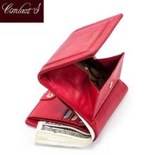 100% 정품 가죽 여성 지갑 짧은 동전 지갑 카드 홀더 여성 돈 가방 고품질 미니 Walet 작은 Carteira Feminina