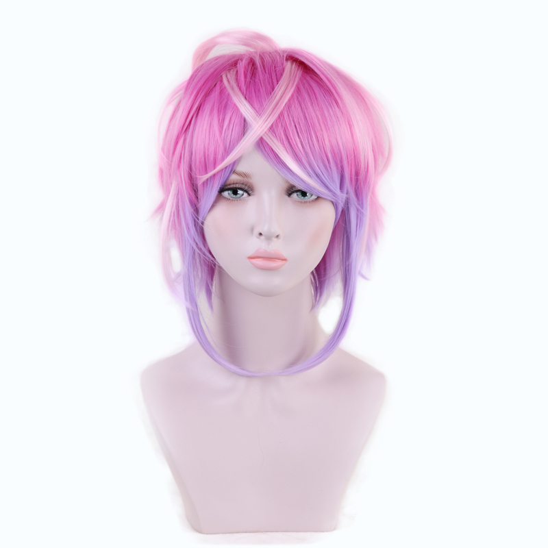 Division Rap Battle Hypnosis MIC Amemura Ramuda Short Wig Cosplay Costume Men Synthetic Hair Halloween Party Wigs