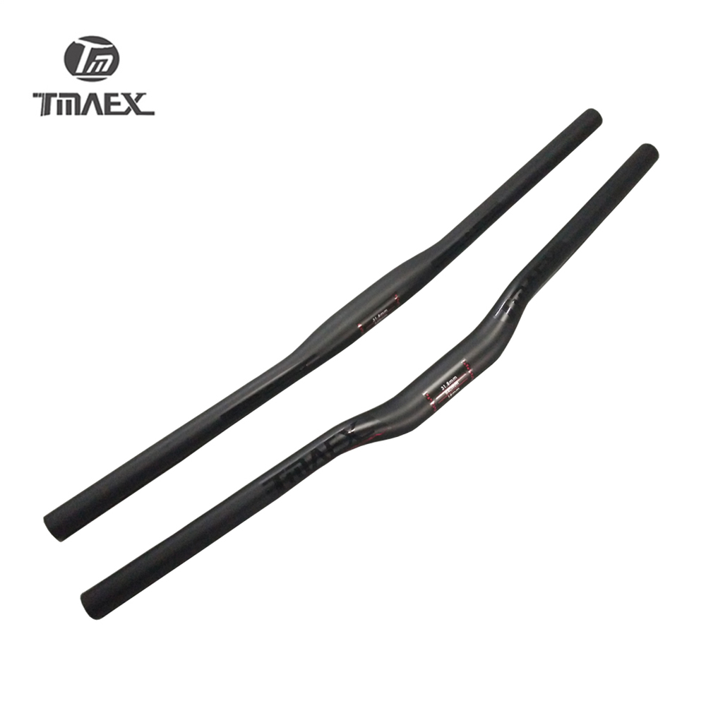 TMAEX Ultralight Full <font><b>Carbon</b></font> Mountain Bike Flat/<font><b>Rise</b></font> <font><b>Handlebar</b></font> Cycling <font><b>MTB</b></font> <font><b>Handlebars</b></font> 31.8mm Matte Black Bicycle parts 760mm image