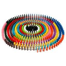 240Pcs / set 10 színek autentikus standard fából készült gyermekek Domino játék szórakoztató játékok ajándék