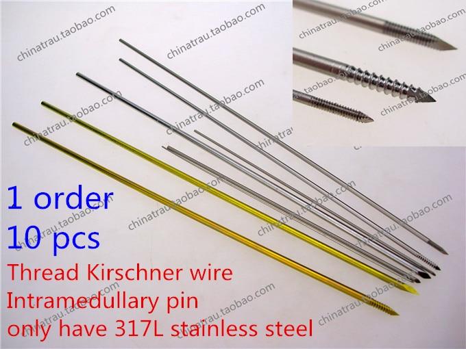 instrument mjekësor ortopedik 317L çelik i pandryshkshëm K.Wire Kirschner vidhos teli me vidhos kockat e implantit të kockave