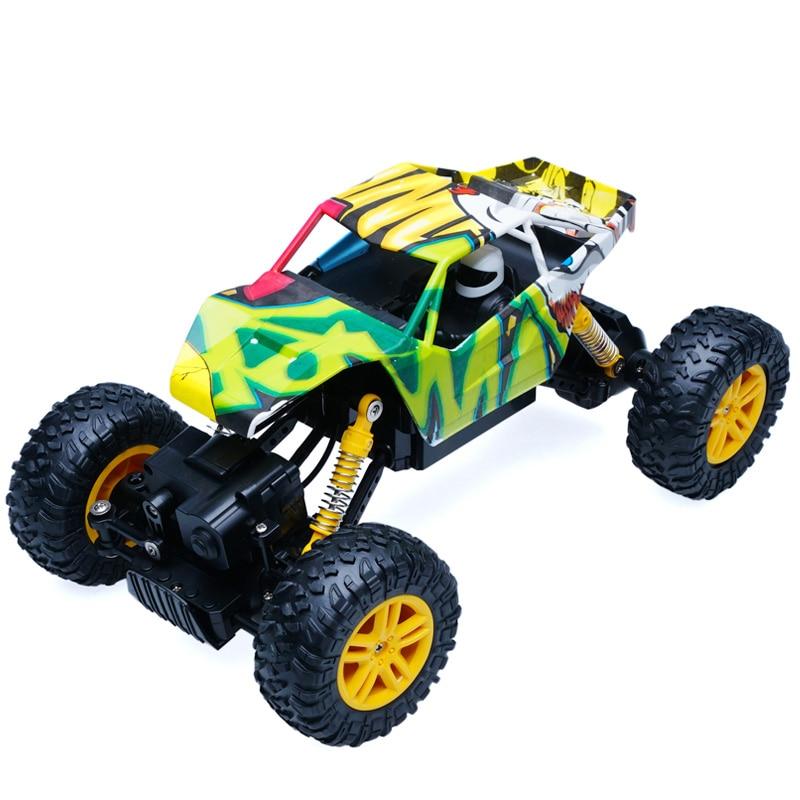 Rc автомобиль 4WD 2.4 ГГц рок сканеры ралли восхождение автомобиль 4x4 двойной Двигатели йети автомобилей Дистанционное управление модель с вне...