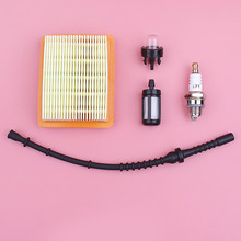 Air Fuel Filter Line Hose Primer Bulb Spark Plug Kit For Stihl FS120 FS200 FS250 FS300 FS400 FS450 String Trimmer Engine Part carburetor ignition coil module kit fit stihl fs300 fs350 fs120 fs200 fs250 fs250 r fs020 fs202 ts200 trimmer weedeater cutters