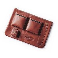 Кожаный чехол для MacBook 13,3 клатч Для мужчин Подлинная Кожаный чехол для iPad pro 12,9 с держателем ручки сумка для ноутбука кожаный чехол