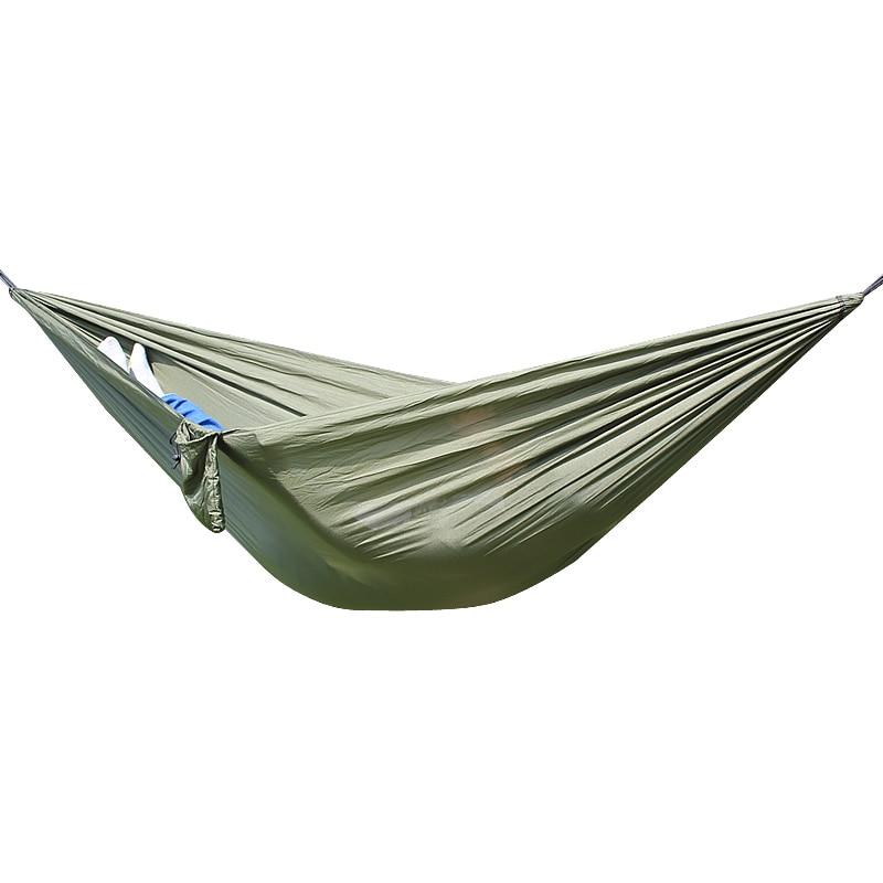 Outdoor hammock  widened  parachute cloth ultra light Mosquito Net Hammock camping indoor swing