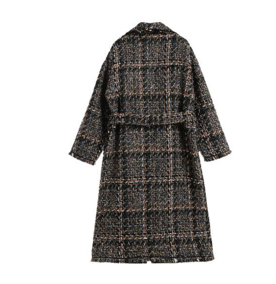 Tweed Femme Colete Tranchée Femmes Longue Élégante Dames D'hiver Mujer De Manteau Laine Hiver Chalecos aqz6rwaxWX