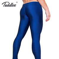 Taddlee Brand Sexy Long Pants Pencil Tight High Stretch Low Waist Men Bottoms Active Jogger Pants Gay Men's Workout Legging New