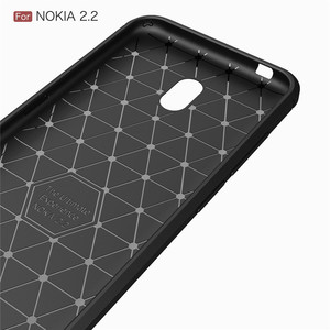 Image 4 - Silicone Case For Nokia 2.2 2 For Nokia 2.1 2V ShockProof Fitted Carbon Fiber TPU Phone Cover For Nokia 2.2 Case