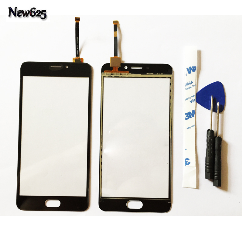 10 Pcs/Lot, For Meizu M5 Note 5.5 Touch Screen Mobile Phone Touch Panel Digitizer Sensor Repair Parts +3M Sticker +Tools