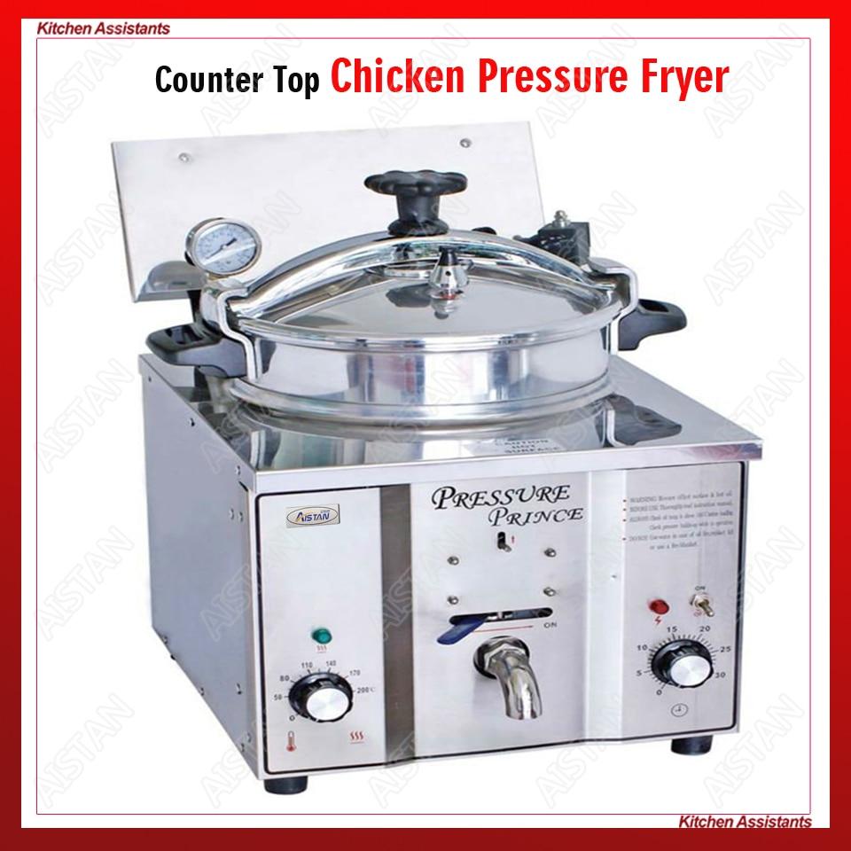 MDXZ16 mini top contatore elettrico pressione pollo friggitrice della patata olio friggitrice per KFC commerciale cucina del ristorante