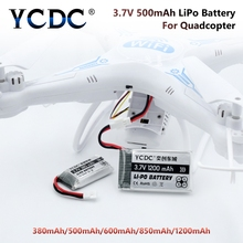 YCDC Li-Po Battery  1200 / 850 / 600 / 500 / 380 /mAh 3.7V For Syma WLtoys Hubsan JJRC Drone Quadcopter Rechargeable Batteries