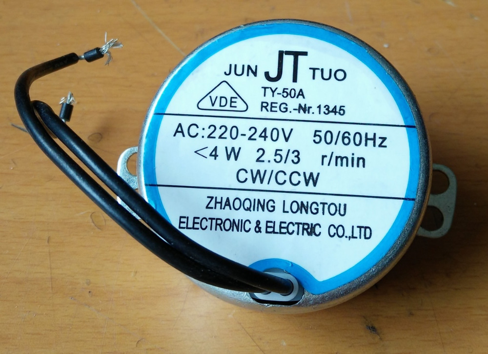 Ac motor Oszillierende synchronmotor TY-50A schütteln kopf AC 220-240 V, 4 Watt, CW/CCW fan teile zubehör induktionsmotor