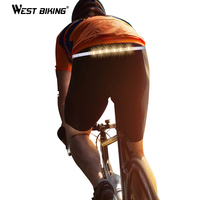 West Biking LED 1200mAh Bike Light Cycling Safety Warning Waist Belt Riding Running Outdoor Night Lamp Bicycle Turn Signal Light