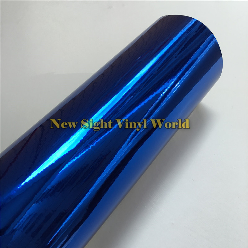 high quality flexible dark blue chrome car vinyl wrapping film for