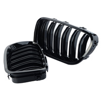 1 Pair Car Style One Pair Front Gloss Black Racing Grilles For BMW F18 F10 2010