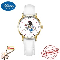DISNEY official SNOW WHITE Cartoon Children Watch Fashion Kids girls Cute Leather waterproof quartz Watch Girl relogio feminino