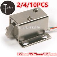 4 PCS DC 12V Cabinet Door Electric Lock Assembly Solenoid High Quality Ultra Compact Locks