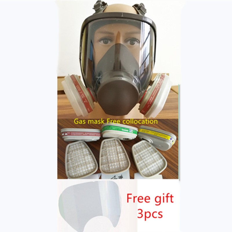 Health Care Responsible Pro Firemens Black Gas Mask Emergency Survival Safety Respiratory Anti-dust Paint Respirator Mask With 2 Dual Protective Filter Good Taste Masks