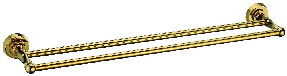 FREE SHIPPING GOLD Clour Round base DOUBLE towel bar рубашка moschino рубашка