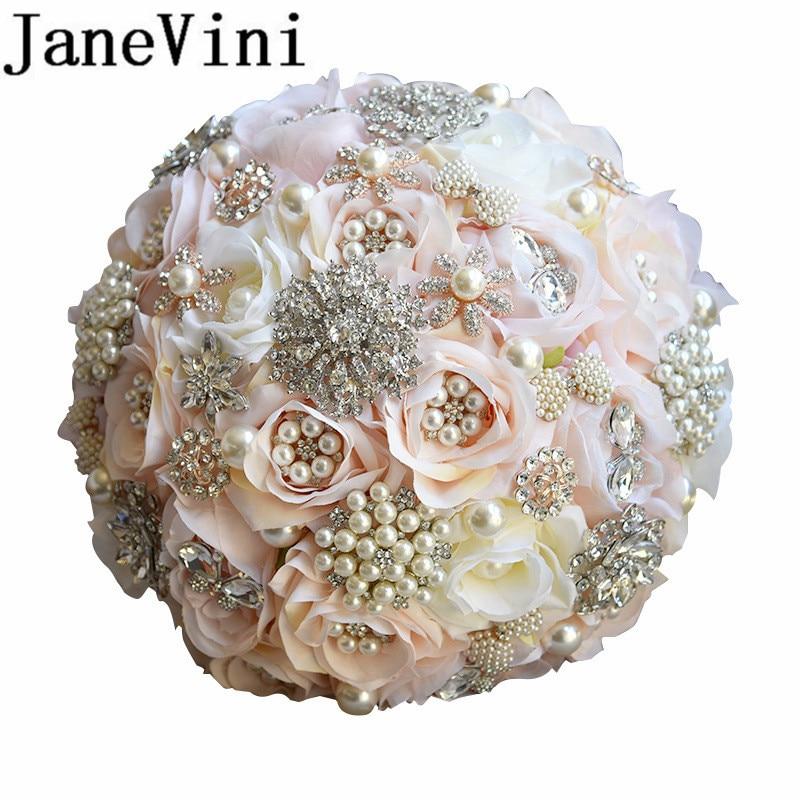 JaneVini باقات الزفاف الفاخرة لحفل الزفاف - إكسسوارات الزفاف