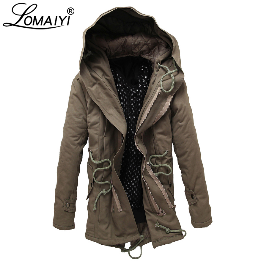 WSPLYSPJY Mens Warm Hooded Coat Waterproof Thicken Padded Jacket Outwear
