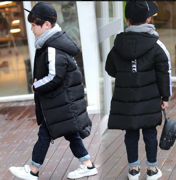 2017 New Kids Boys Cotton Coats Jacket Korean Girls Thickened Children Long Casual Coltsfoot Cotton Coats