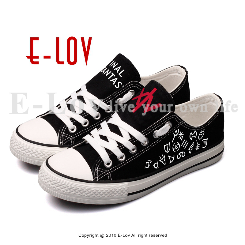 E-LOV Hot Game Fantasy Printed Canvas Shoes Anime Fans Cosplay Unisex Casual Walking Shoes Sapatos Femininos e lov women casual walking shoes graffiti aries horoscope canvas shoe low top flat oxford shoes for couples lovers