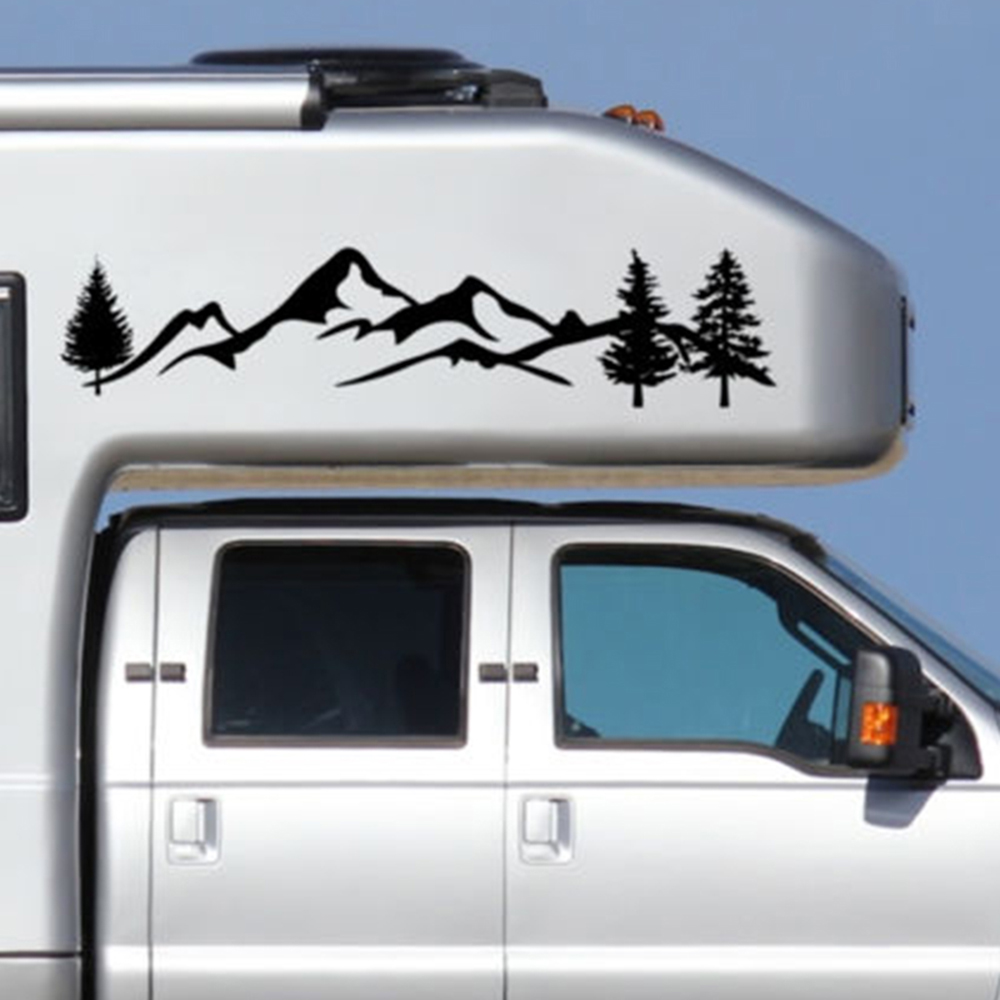 White Mountain Auto >> Us 3 1 46 Off Black White Tree Mountain Car Decor Pet Forest Sticker Auto Decal For Suv Rv Camper Offroad Car Styling Stickers Wall Posters In Wall