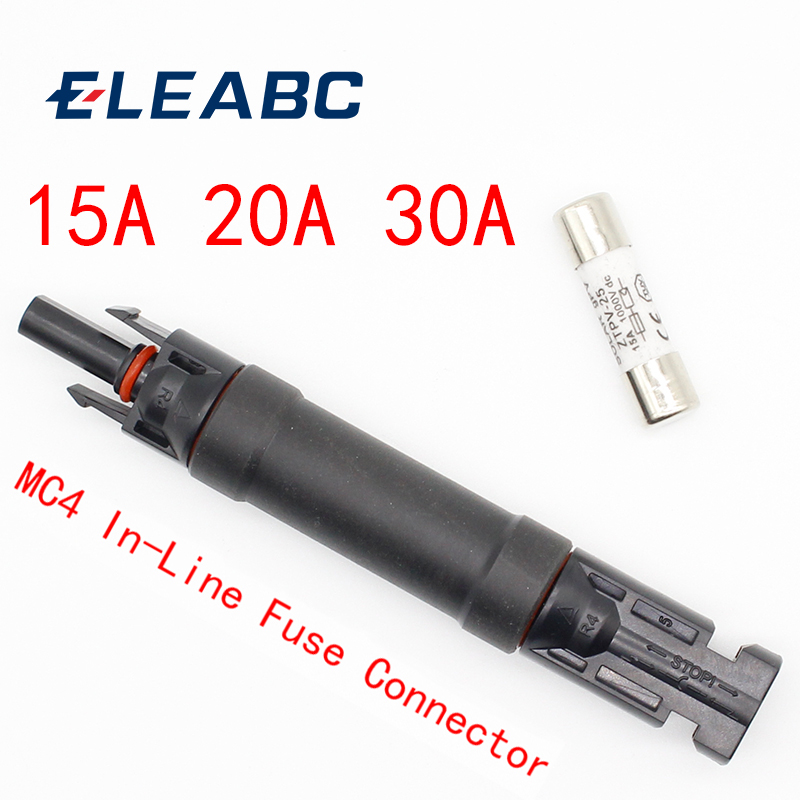 1pcsFuse Holder Protective MC4 Connector Fuse protection 1000 VDC Male to Fem PV Photovoltaic Solar Diode Waterproof 15A/20A/30A1pcsFuse Holder Protective MC4 Connector Fuse protection 1000 VDC Male to Fem PV Photovoltaic Solar Diode Waterproof 15A/20A/30A