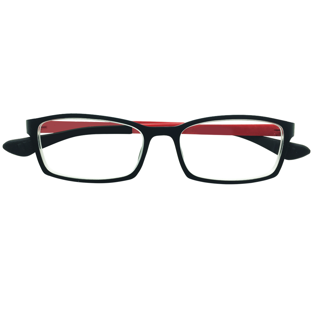 Computer Reading Glasses Black Red Frame Eyewear Mens Womens Students +0.25 to +4.0 Anti Blue Ray Radiation Protection Readers