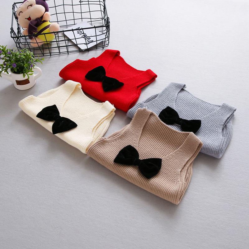 Autumn-Girls-Boys-Kids-Baby-Infants-Sleeveless-Bow-Vest-Outwear-Pullover-Knitwear-Kintting-Sweater-Waistcoat-Camisola-MT1287-3