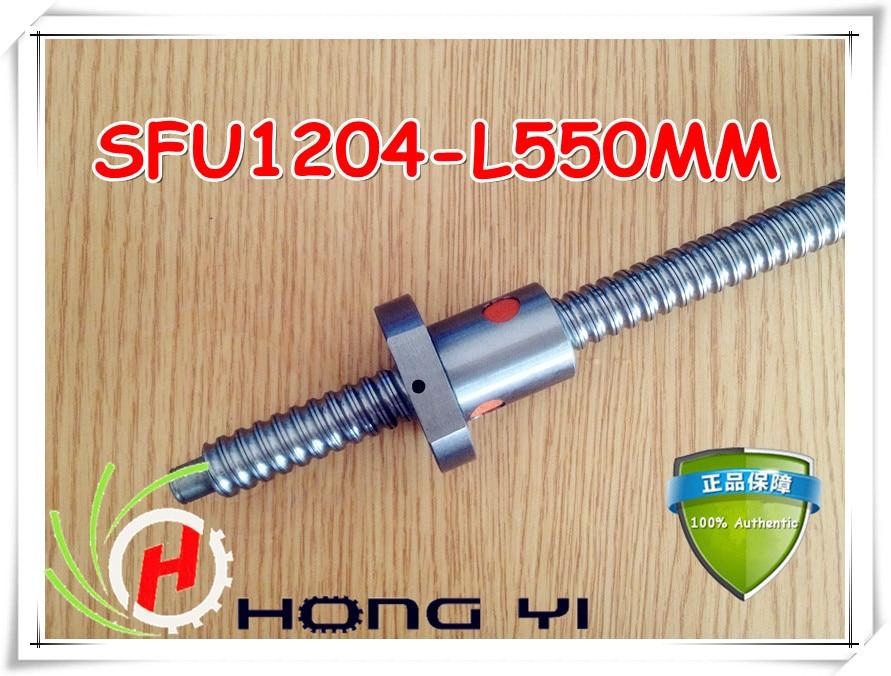 ФОТО 1set 1204 rolled ballscrew Linear motion CNC XYZ Ball screw SFU1204 550mm length with 1pcs ballnut