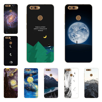 zte blade V9 case,Silicon Mountain peaks Painting Soft TPU Back Cover for zte blade V9 protect Phone shell