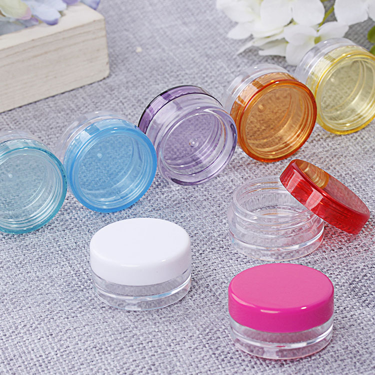 3g Mix Color 10pcs 20pcs 30pcs 50pcs 100pcs Round Empty Cosmetic Refillable Bottles Plastic Makeup Face Cream Jar Packaging Pot 10pcs 5g cosmetic empty jar pot eyeshadow makeup face cream container bottle acrylic for creams skin care products makeup tool