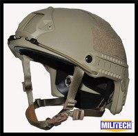 ISO сертифицировано MILITECH де Тан OCC циферблат nij level IIIA 3A быстро высокой Cut Пуленепробиваемый Арамидных Баллистических Шлем с 5 лет гарантии