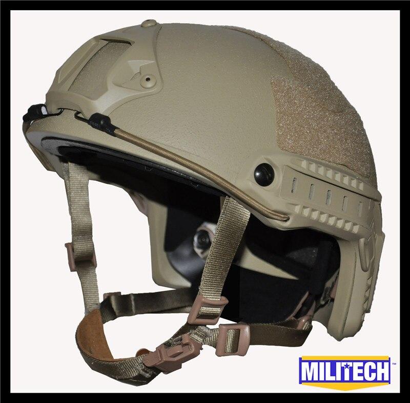 ISO Certified MILITECH DE TAN OCC Dial NIJ Level IIIA 3A FAST High Cut Bulletproof Kevlar Ballistic Helmet With 5 Years Warranty militech black occ dial nij level iiia 3a fast high cut ballistic bulletproof tactical helmet with 5 years warranty devgru seal