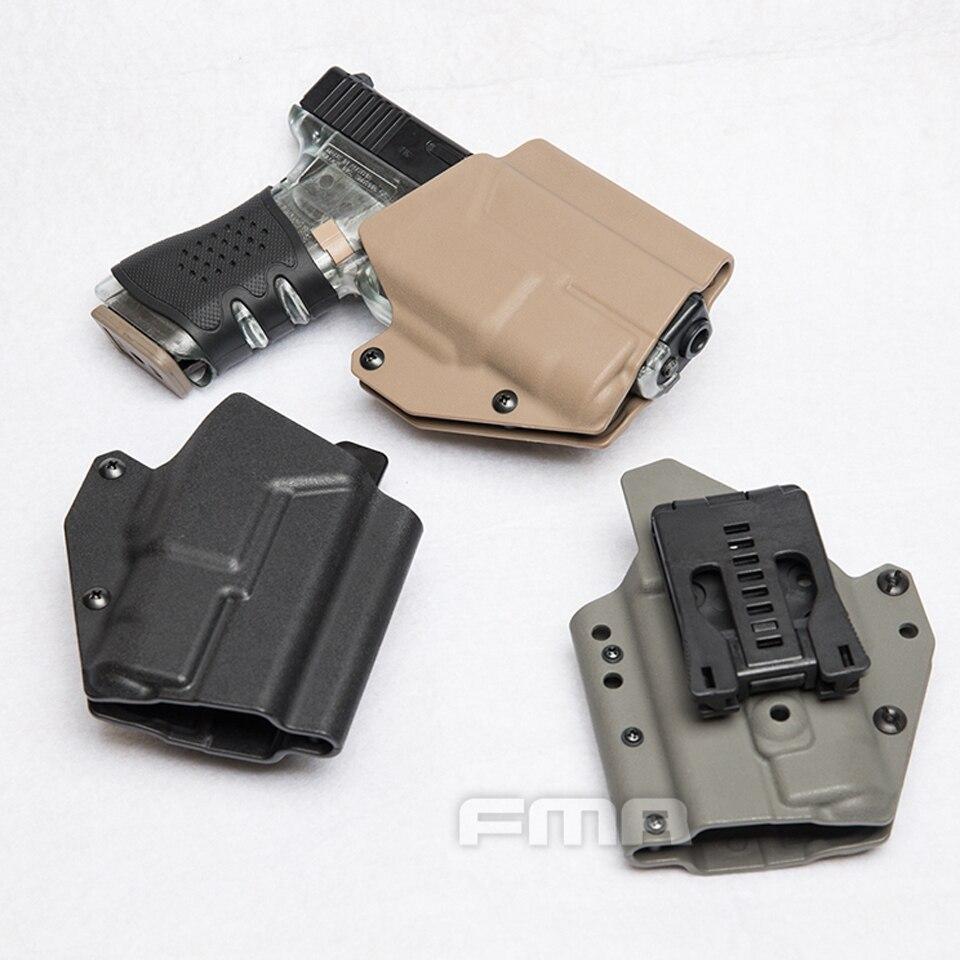 Military Tactical Belt Holster Light-Bearing Paddle Belt Holster For Glock 17s