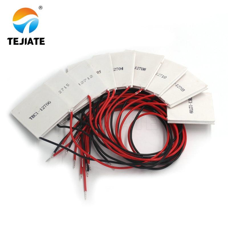 TEC1-12705 Thermoelectric Cooler Peltier TEC1-12706 TEC1-12710 TEC1-12715 40*40MM 12V Peltier Elemente Module 12704 9 12 15
