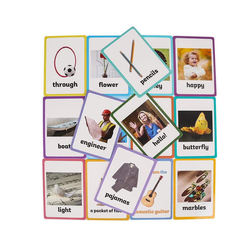 26 catégories 760 pièces apprendre l'anglais mot carte Flashcards Juguetes Educativos enfants jouets éducatifs pour enfants début d'apprentissage    2