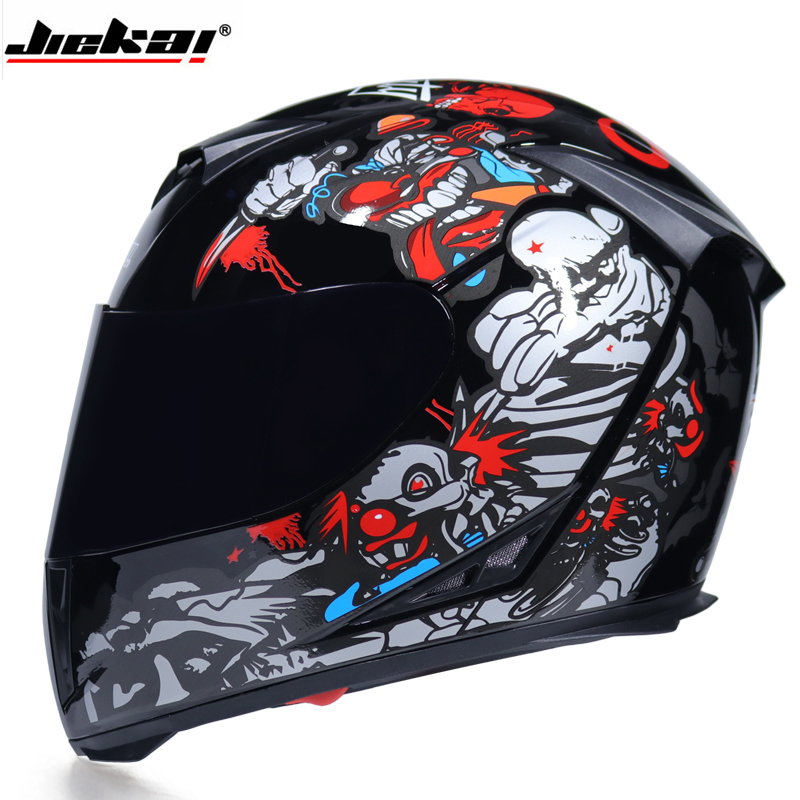 Full Face Motorcycle Helmet Washable Lining With Dual Lens Stylish Fast Release Racing Helmet Casco Casque Moto DOT Approved
