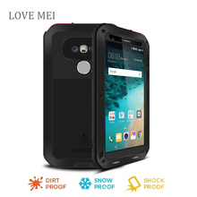 Love Mei for lg g5 Waterproof Shockproof Gorilla Glass Metal Aluminum Case Cover For lg g5 Three proofing cases
