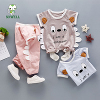 2017 Summer New Born Baby Clothes Cartoon Cute Climb Cotton Soft Baby Clothes Lovely Design Little