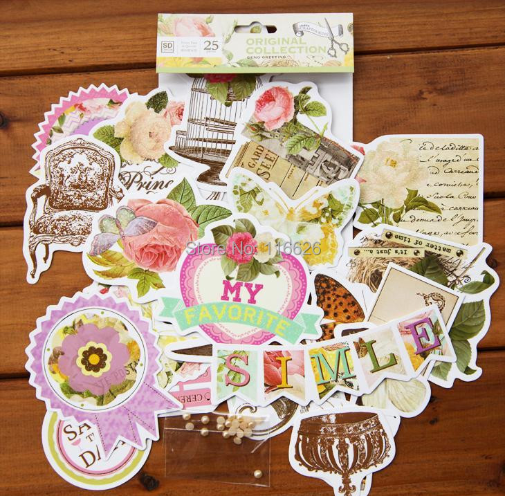 Enogreeting delicate 3d flowers die cuts stickers scrapbooking wedding decorative papercrafts tags in stickers from home garden on aliexpress com