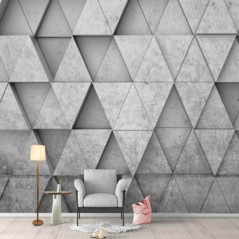 geometric triangle 3d Background Wallpaper Mural for Walls ...