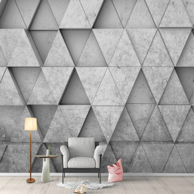 Geometric Triangle 3d Background Wallpaper Mural For Walls Living Room Home  Improvement Decor Modern Wallpaper
